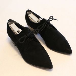 Marc Fisher black suede oxfords sz 7.5